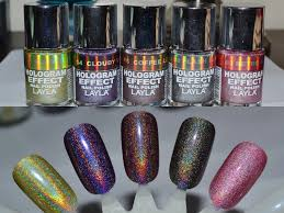 layla cosmetics hologram effect nail polish 8 new fall colors