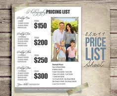 photographer prices photography price list session packages pricing sheet