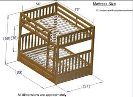 Full Sized Bunk Bed by How Tall Are Standard Bunk Beds Latitudebrowser