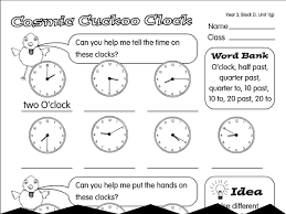 cosmic cuckoo clock a year 3 time worksheet