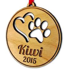 amazon com personalized pet ornament paw heart dog cat christmas