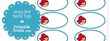 angry bird printable tags u2014 printable treats