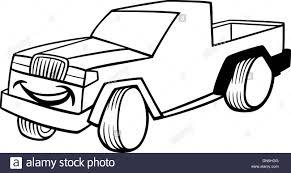 pickup car cartoon coloring stock vector art u0026 illustration