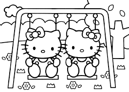 large kitty coloring pages download print free