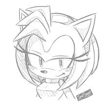 commission bust sketch amy rose by janesheep on deviantart