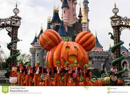 disneyland paris during halloween celebrations editorial image