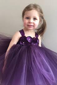 plum flower tulle dress eggplant flower dress girls