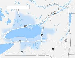 New York Thruway Map by Meet The Dams That Control The Fate Of Lake Ontario And Montreal