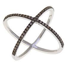 diamond x ring rarities jewelry with carol brodie 0 34ctw colored diamond x