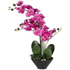faux orchids multi stem purple 21 high faux orchids in black pot 2w774
