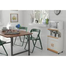 Microwave Cart With Wheels Altra Furniture Hannah White Microwave Cart With Storage 4574gm