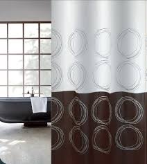 oriental circle luxury polyester fabric shower curtain pissing