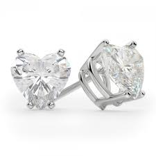 heart shaped diamond earrings heart shaped diamond earrings zeige earrings