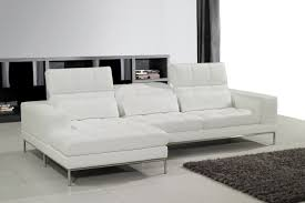 White Leather Sectional Sofa Living Room White Leather Sectional Sofa White Standing Lamp