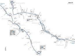 Boston Transit Map by 57 Bus Route Ac Transit Sf Bay Transit