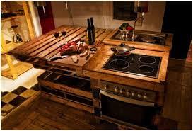 meuble de cuisine en palette wooden pallet kitchen worktop jpg