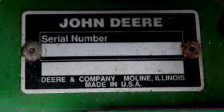 john deere serial number year the best deer 2017