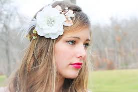 flower hair bridal flower hair crown woodland wedding on luulla
