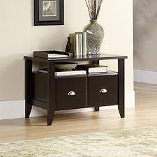 White Filing Cabinet 2 Drawer Sauder Shoal Creek Jamocha Wood File Cabinet 409944 The Home Depot