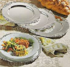 silver charger plates baroque by godinger