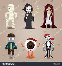 halloween ghost character design set mystery stock vector