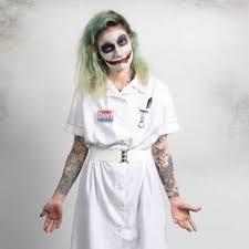 Joker Nurse Halloween Costume Shop Horrors Costumery Joker Nurse Costume Shop