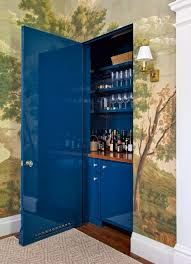 Lacquer Bar Cabinet Hidden Bar Ideas Eclectic Dining Room