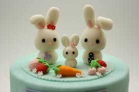 rabbit cake beautiful kitchen lovely rabbit family cake topper