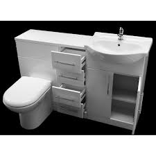 Combination Vanity Units For Bathrooms by Allbits Eden White Gloss Wc Combination 550 Vanity Unit U0026 4 Drawer