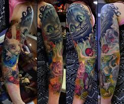 alice in wonderland sleeve in progress by grimmy3d on deviantart