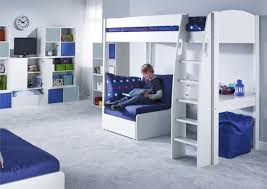 Stompa Bunk Beds Uk Stompa Unos High Sleeper Frame With Desk And Chair Bed Only Boys