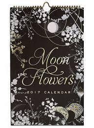 Moon Flowers Discontinued Moon Flowers 2017 Wall Calendar Papaya