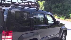 jeep liberty light bar 2012 jeep liberty thule rack and basket youtube