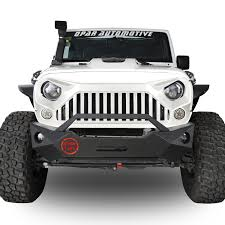 jeep black rubicon w7 pure white front gladiator vader grille for jeep wrangler jk