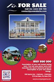 franchise real estate flyer red u0026 blue version template