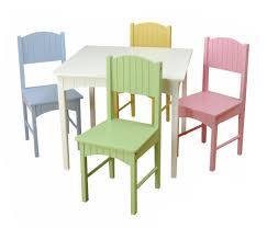 Table And Chairs Set Kidkraft Nantucket Pastel Table Set At Growing Tree Toys