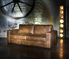 Battersea Vintage Leather  Seater Sofa Industrial Sofas - Corner sofa london 2