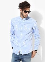 light blue jean shirt buy arrow blue jeans co light blue printed slim fit casual shirt
