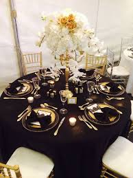 Gold Table L Black And Gold Table Setting Home Safe