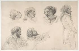 théodore gericault six studies for corréard and savigny in the