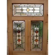 glass outside door victorian edwardian 5 panel stained glass exterior original door