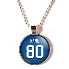 Necklace With Name New York Giants Cabochon Glass Necklace With Name And Number