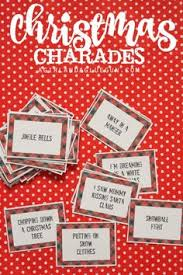 christmas charades game and free printable roundup gaming