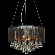 Chandelier With White Shade Brizzo Lighting Stores 18