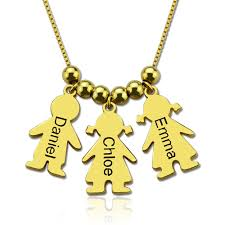 mother necklace images Personalized mother necklace with kids charm mother 39 s day gift jpg