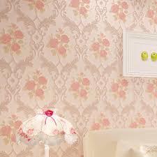 wallpaper luxury pink beibehang relief damascus luxury beige pink blue damask wallpaper