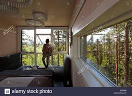 sweden lapland norrbotten county harads treehotel cabine hut
