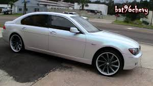 green pink blue pearl white bmw 750li on 22