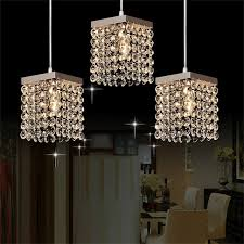 crystal pendant lighting for kitchen mamei free shipping modern 3 lights crystal pendant lighting