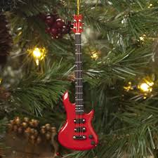 electric bass guitar ornament at the stand